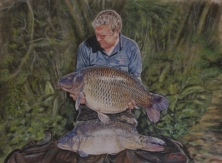 A3 Sized Watercolour Carp Paintings -